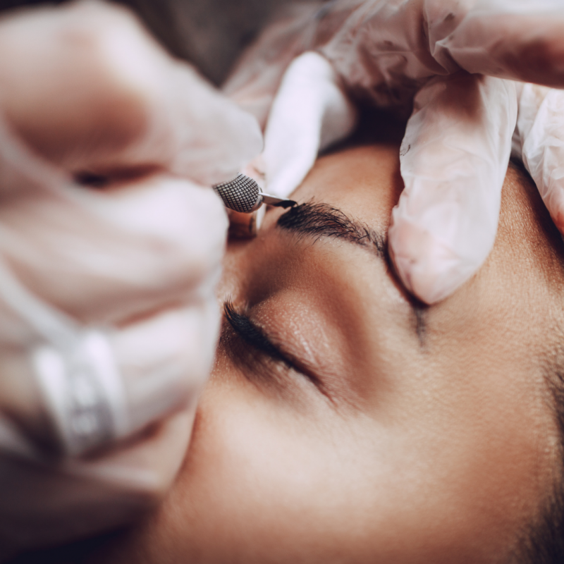 Microblading Detail seitlich the most beautiful
